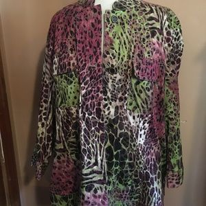 Additions by Chico's Colorful Short Jacket Size 3